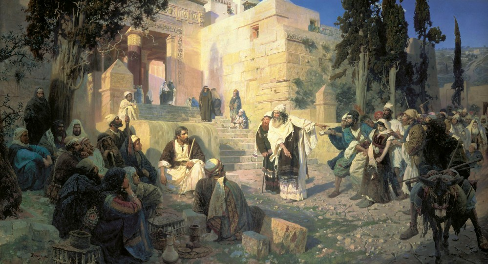 A Depiction of Jesus and the Woman taken in Adultery (Vasily Polenov)