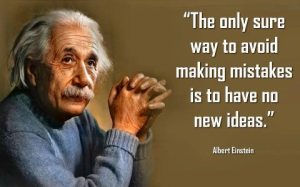 The only sure way to avoid making mistakes... (Albert Einstein)