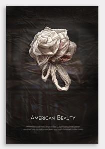 American Beauty Rose Plastic Bag