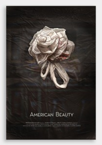 American Beauty Rose Plastic Bag