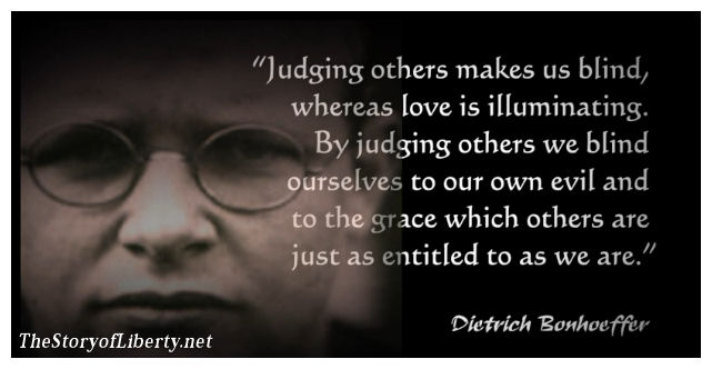Dietrich Bonhoeffer on blindness to evil