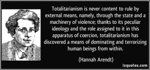 Hannah Arendt on Totalitarianism