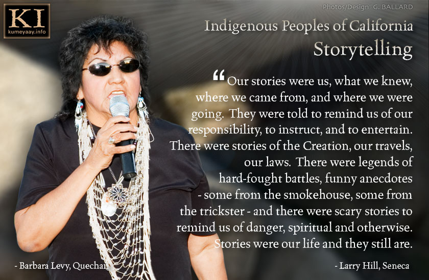 Indigenous Peoples of California (Quote on Storytelling)