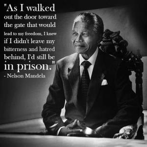 Mandela Quote As I walked out the door