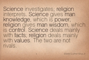 Martin Luther King quote on science and religion
