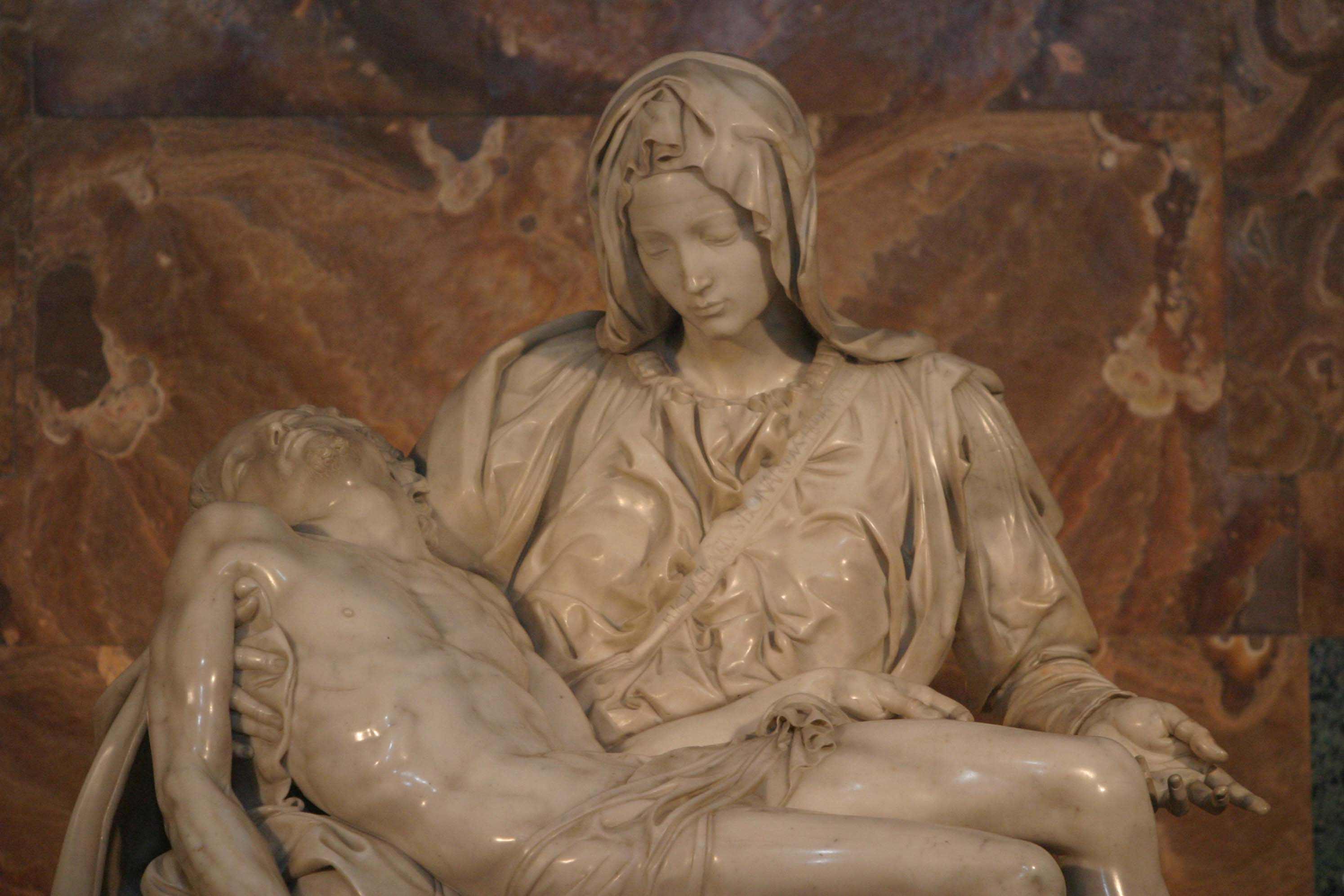 pieta by michelangelo Pieta by michelangelo buonarroti, one of the most highly finished works by  michelangelo.