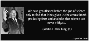 quote Martin Luther King on science