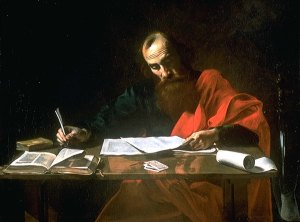 Saint Paul Writing His Epistles (1620 Valentin de Boulogne)