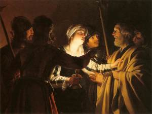 The Denial of St Peter by Gerrit Van Honthorst 1622-1624