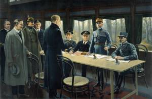 Armistice (the Germans surrender at the end of World War I)