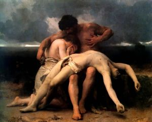 The First Mourning (Adam and Eve mourn the death of Abel) by Bouguereau 1888