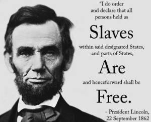Abraham Lincoln emancipation of slaves
