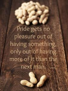 C.S. Lewis quote on Pride gets no pleasure out of