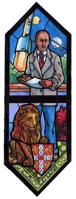 C.S. Lewis Stained Glass Window St George Episcopal Church Dayton Ohio