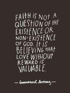 Emmanuel Levinas Qote on Faith