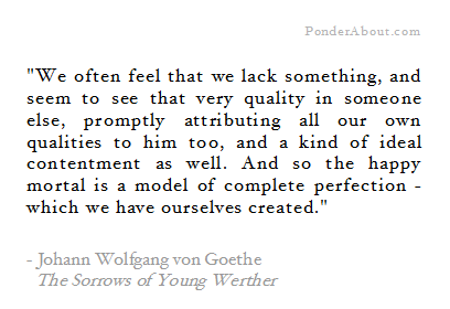 The Sorrows of Young Werther Goethe quote
