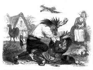 Les Deux Coqs (Jean-Jacques Grandville)