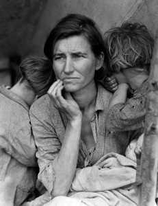 Migrant Mother (by Dorothea Lange 1936)