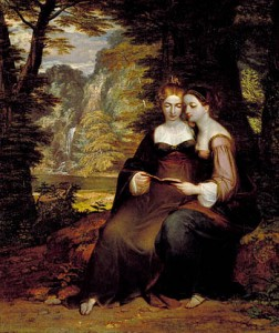 Hermia and Helena (Washington Allston 1818)