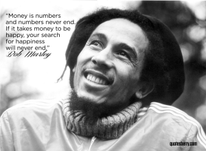 Bob Marley money is numbers