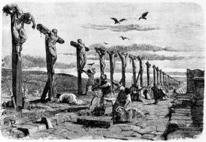 Pax Romana Crucifixion Via Appia