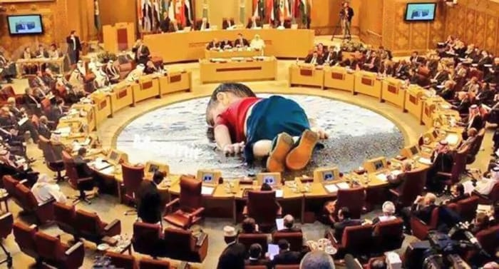 Aylan amidst United Nations