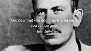 John Steinbeck And now that you don't have to be perfect you can be good