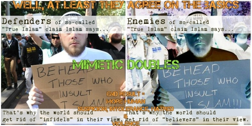 True Islam is Violent (by Mimetic Doubles)