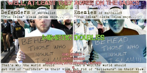 True Islam is Violent Mimetic Defenders and Enemies