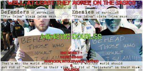True Islam is Violent Mimetic Fight