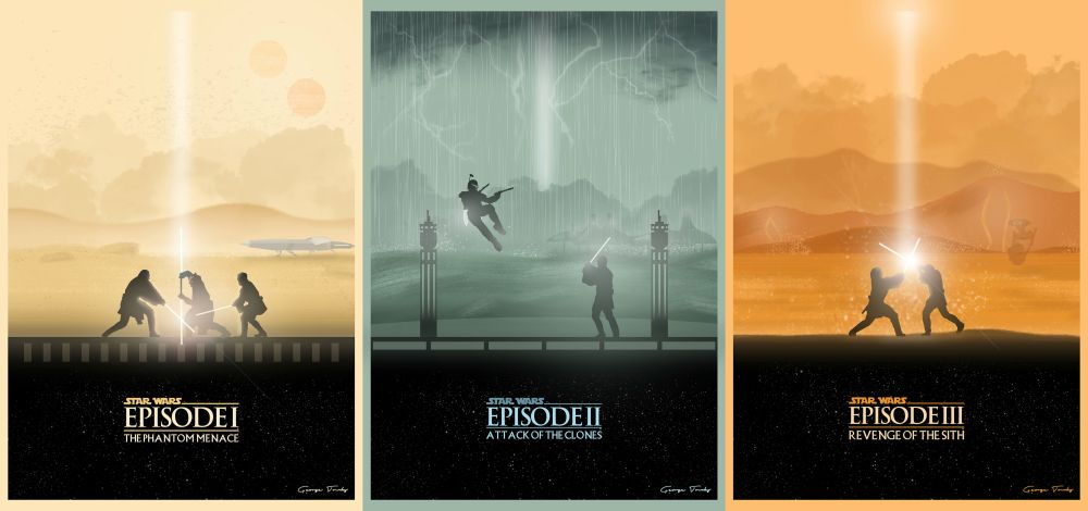 Star Wars Prequel Trilogy Poster
