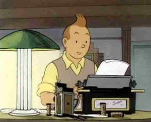 tintin-writing