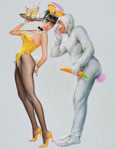 Playboy Bunny Carrot Cartoon