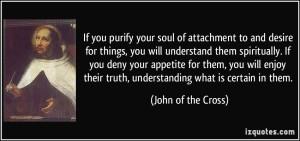 St John of the Cross quote on spiritual understanding