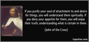 St John of the Cross quote on spiritual understanding