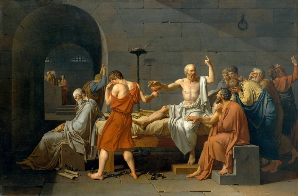 The Death of Socrates (Jacques-Louis David, 1787)