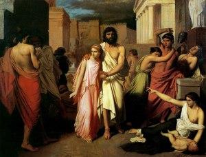 Oedipe et Antigone (Charles François Jalabert – 1842)