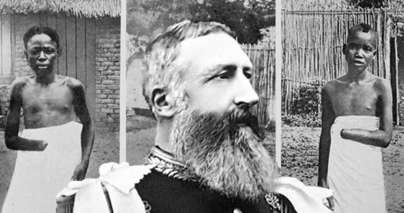 Leopold II and Congolese hands cut off