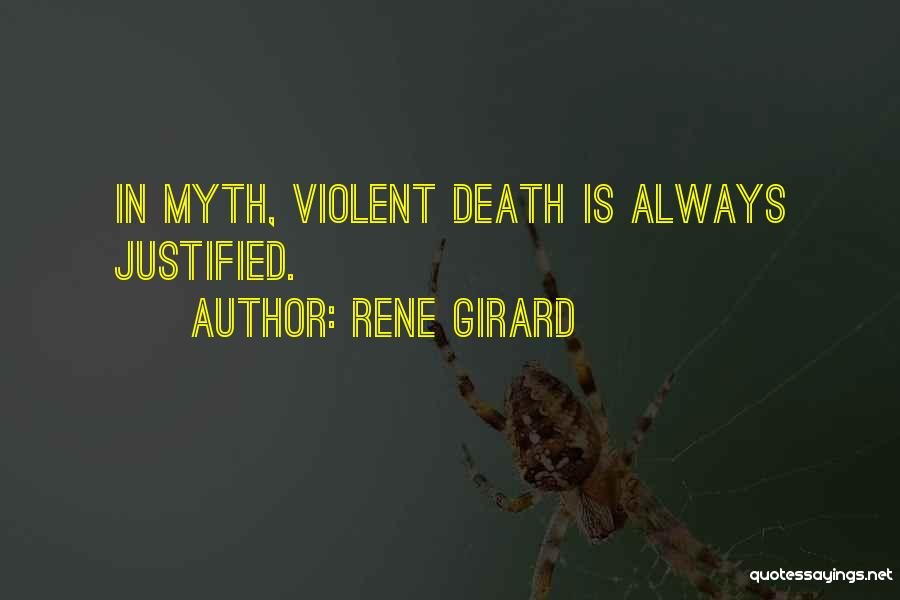 René Girard on Myth