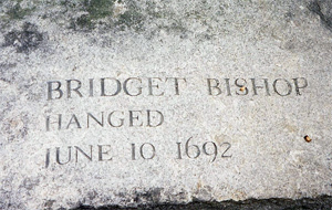 Bridget Bishop Tombstone