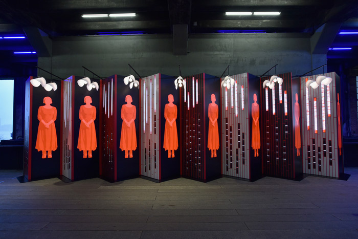 The Handmaid's Tale Art Installation (Paula Scher and Abbott Miller)