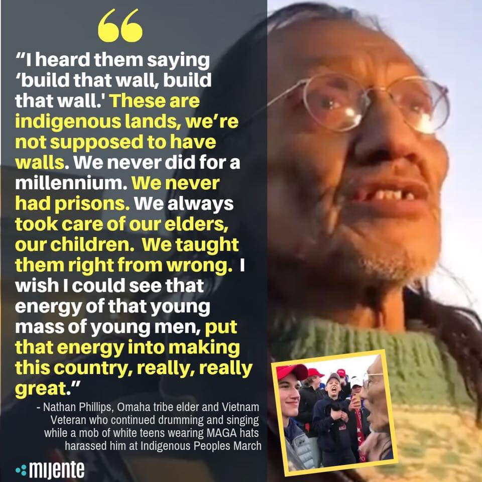 nathan phillips and the maga hat wearing teens