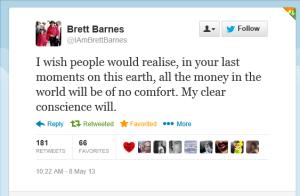 Brett Barnes Tweet on Wade Robson Lies