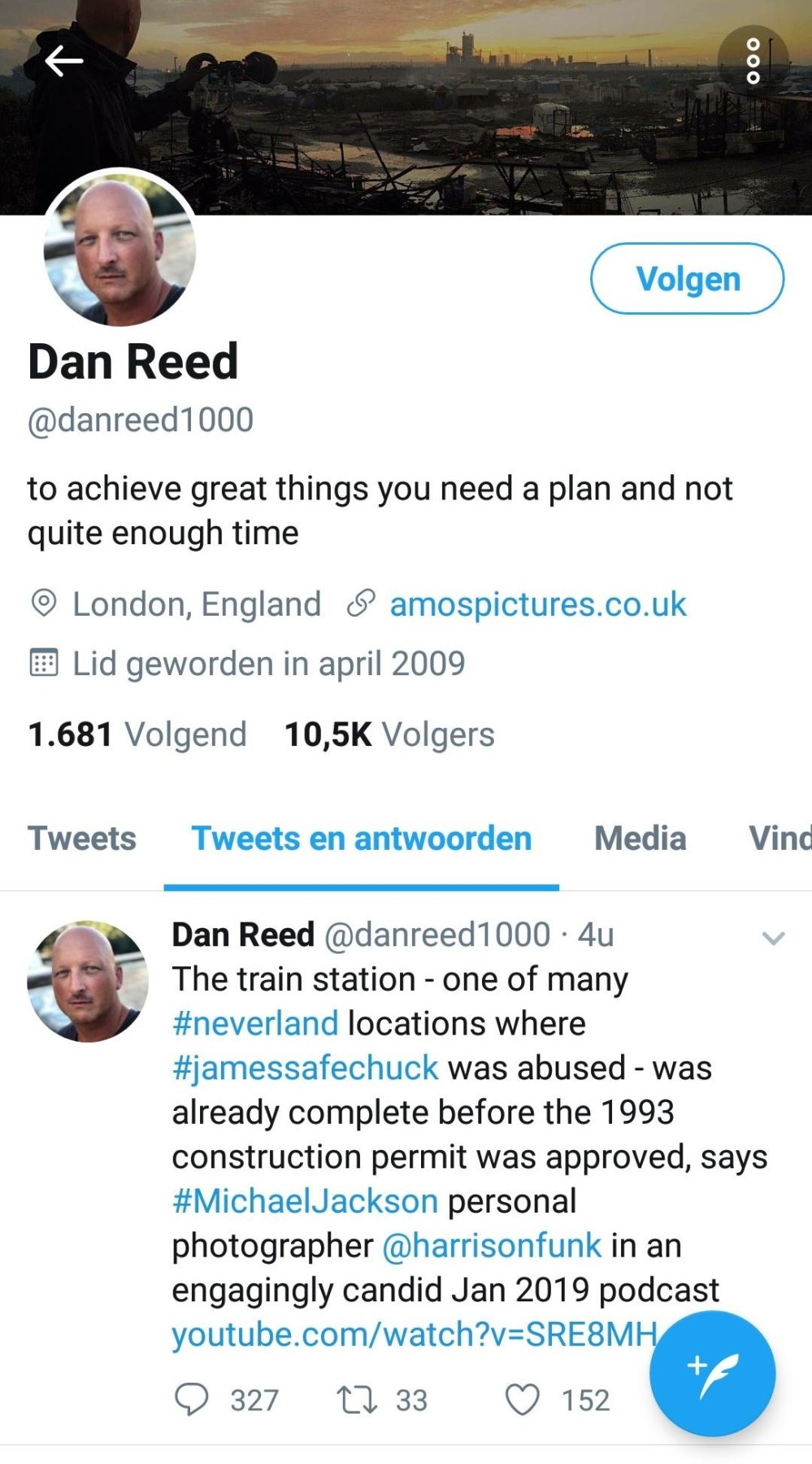 Dan Reed Tweet Harrison Funk