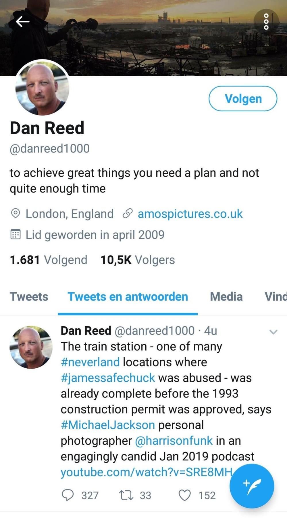Dan Reed Tweet Harrison Funk