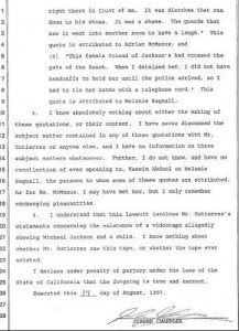 Jordan Chandler Declaration