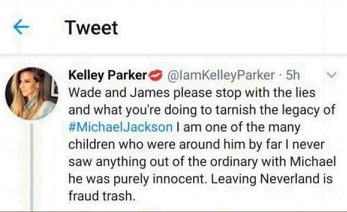 Kelley Parker on Michael Jackson Tweet