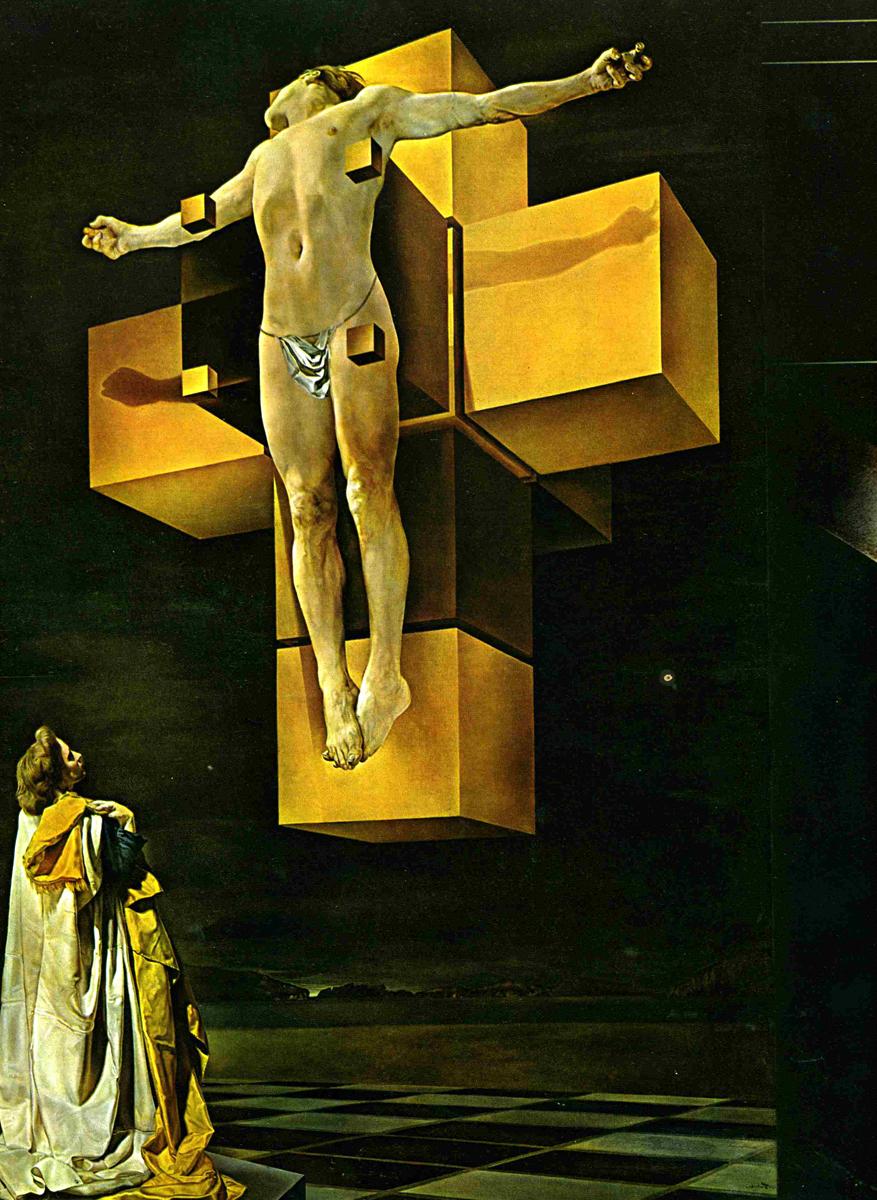 Dali Crucifixion II Corpus Hypercubus (1954)