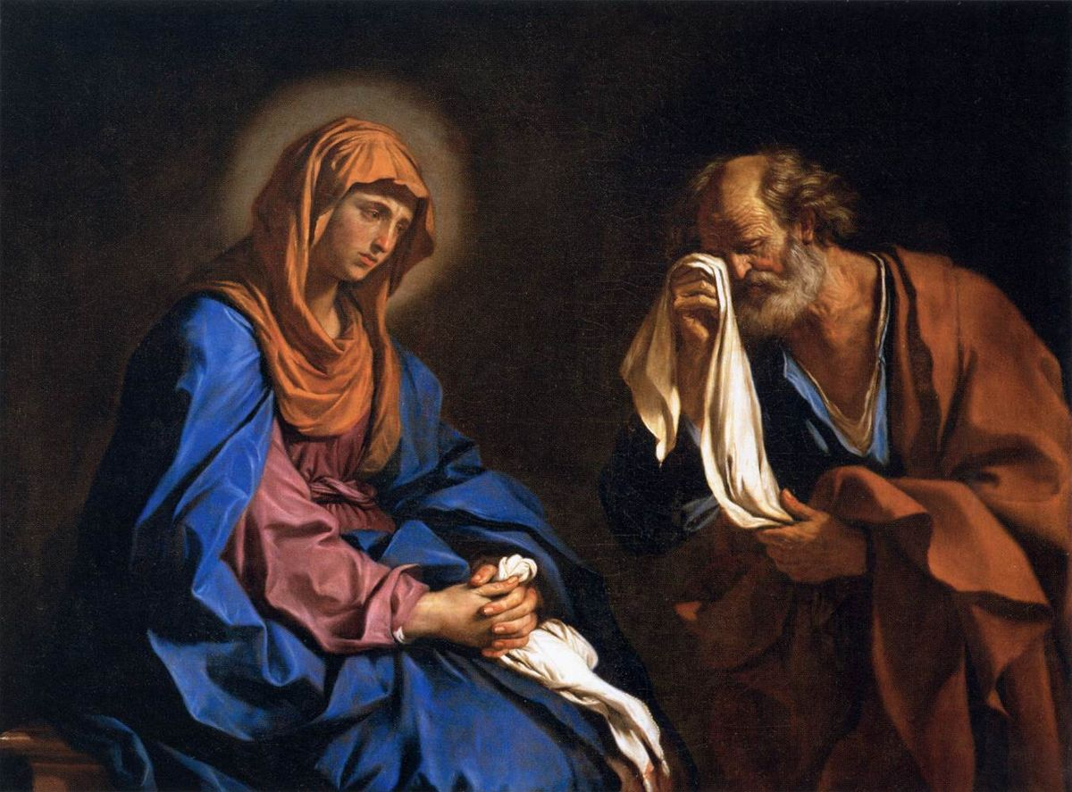 Guercino_-_St_Peter_Weeping_before_the_Virgin
