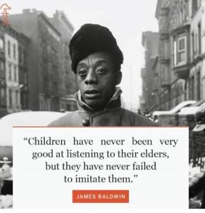 James Baldwin Quote on Imitation
